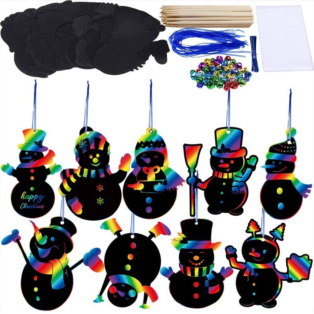 Christmas craft ornament set for toddlers.