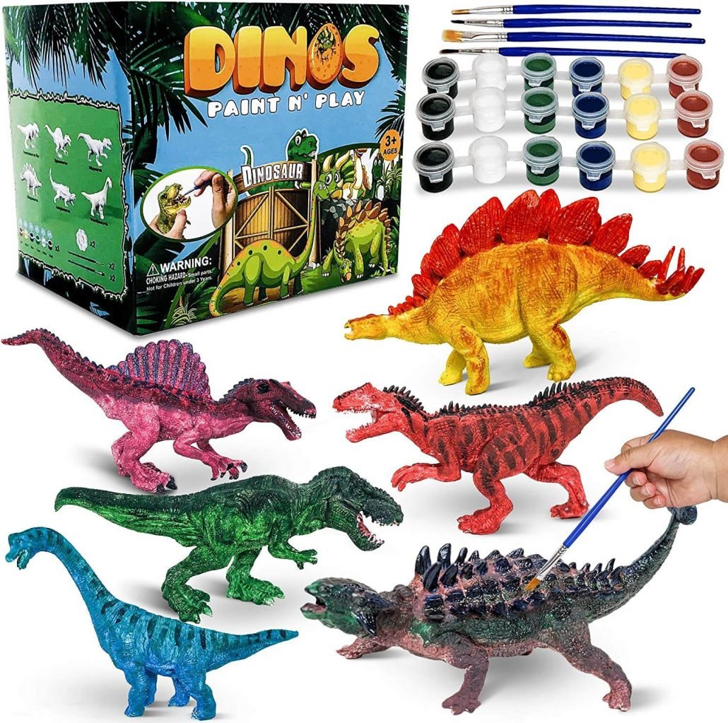 Dinosaur painting craft set for toddlers by CraftzLab.