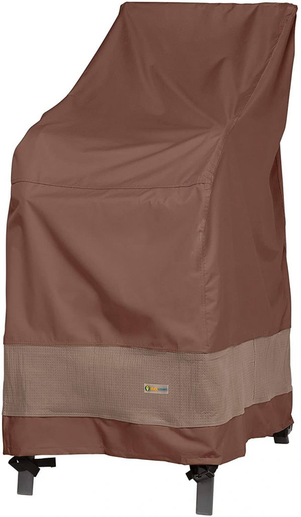 Outdoor patio furniture cover for stackable chairs by Duck Covers.