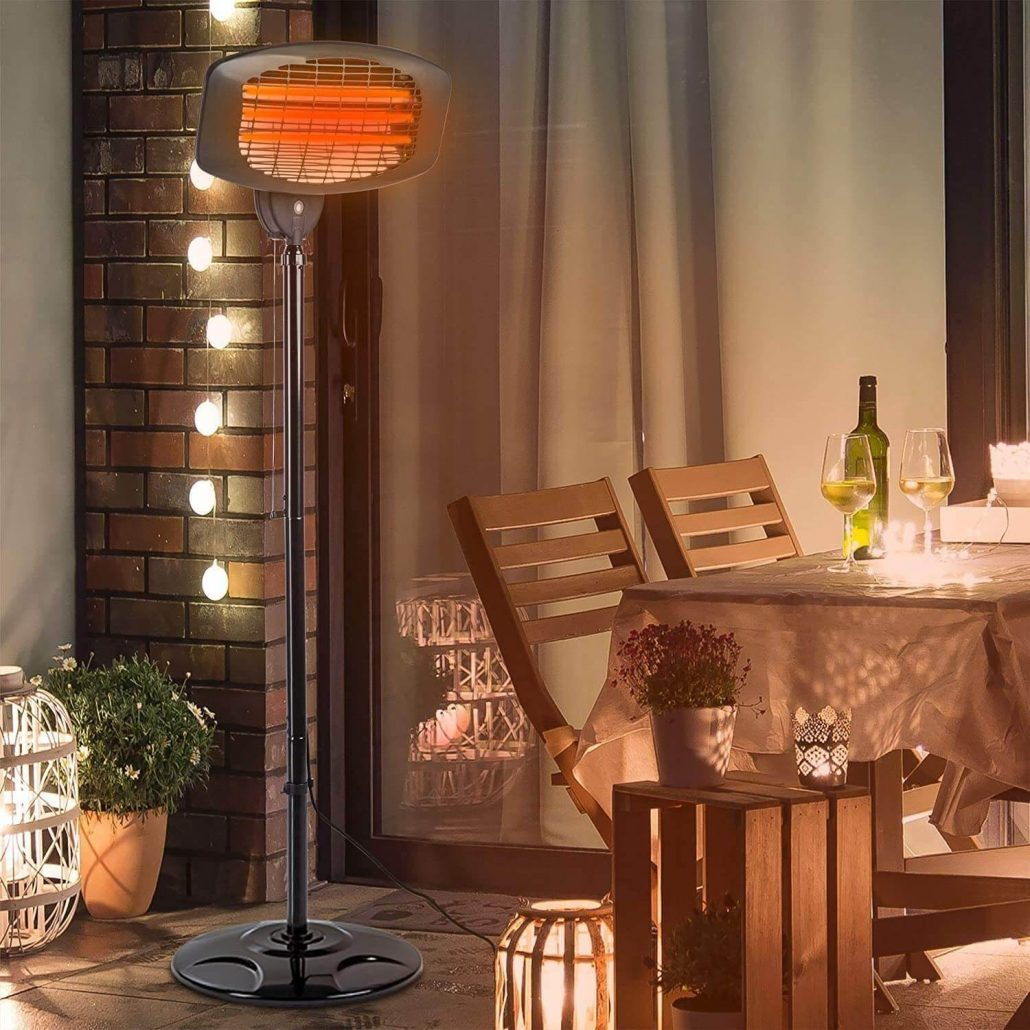 Electric outdoor patio heater by Eprosmin.