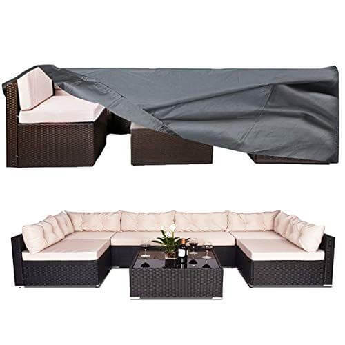 Extra-large outdoor patio furniture cover for outdoor sofas and sectionals.