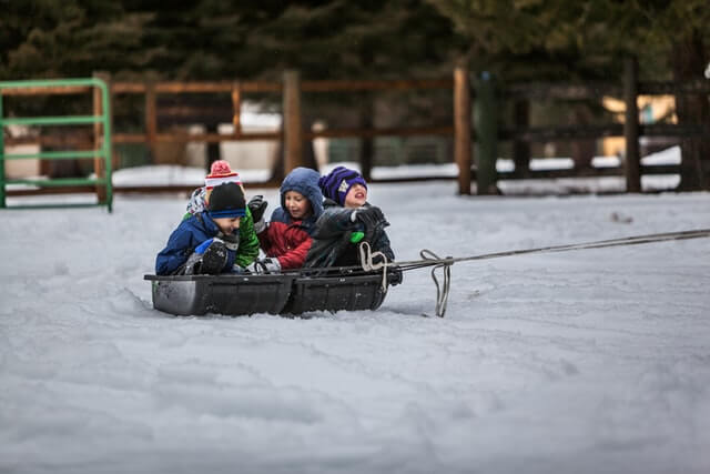 How can you get your kids outside in the winter?