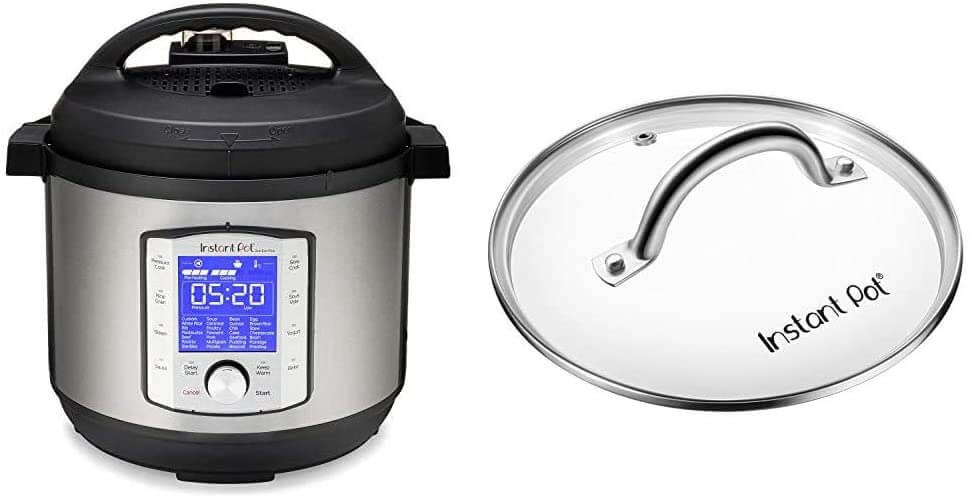 Instant pot and pressure cooker duo set.