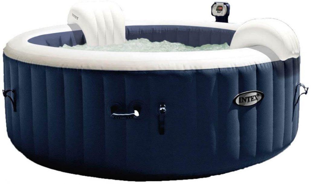 Intex Purespa 4 person outdoor inflatable hot tub.