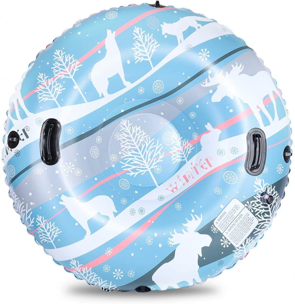 Snow tube for kids winter outdoor activity.
