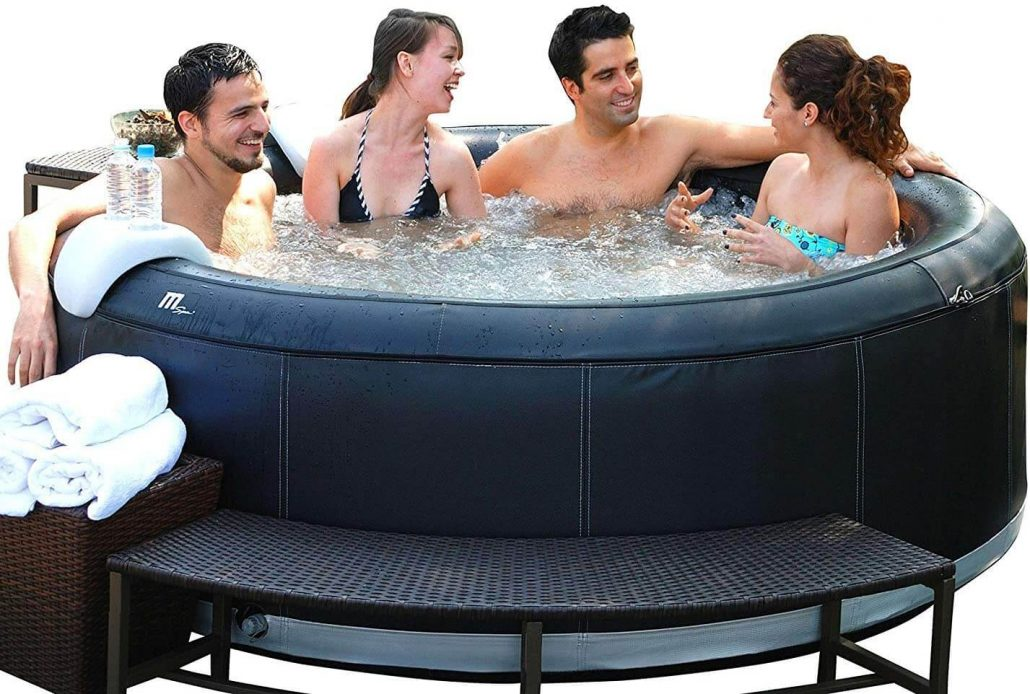 Inflatable hot tub by MSpa.