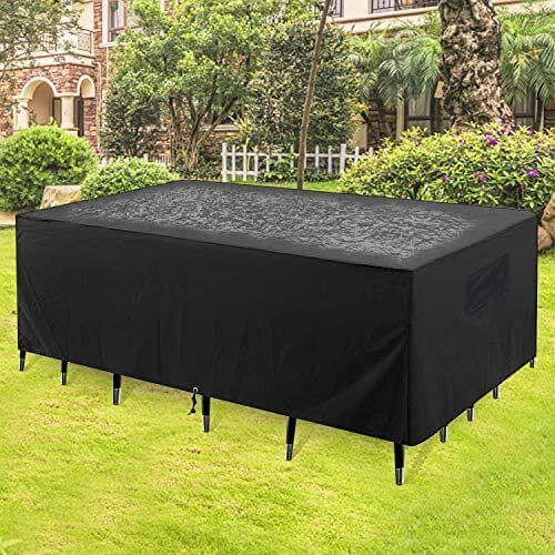 Outdoor patio cover for sofa sectionals or patio table.