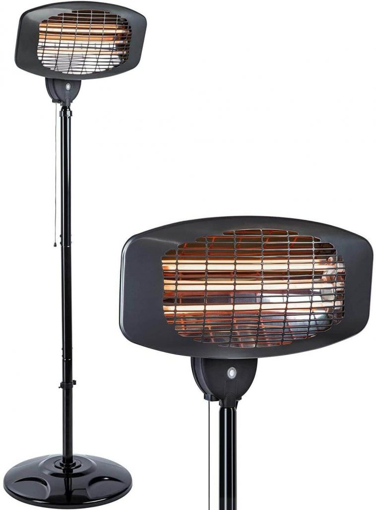 Electric outdoor patio heater by Womir.