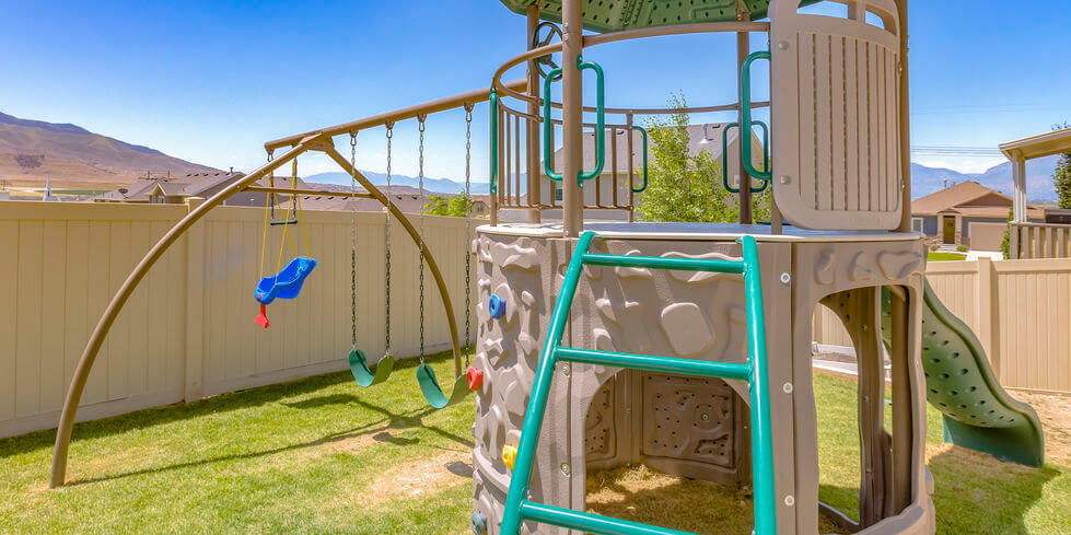 Can you put a playset on grass?