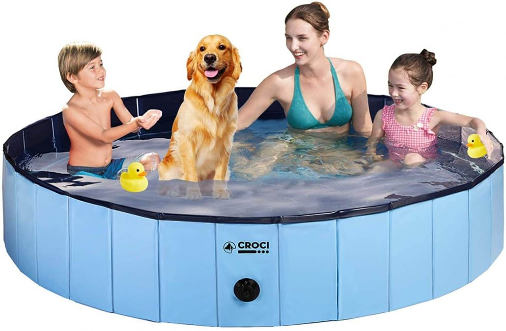 Croci dog pool for outside with drain valve.
