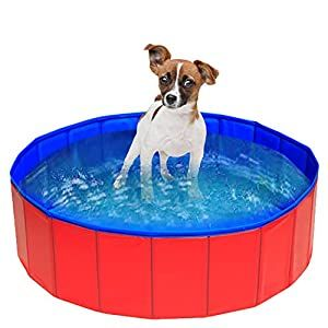 Foldable outdoor dog pool PVC material.