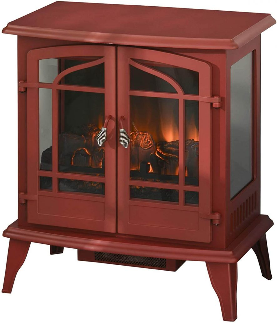 Vintage-style electric fireplace by Homcom.