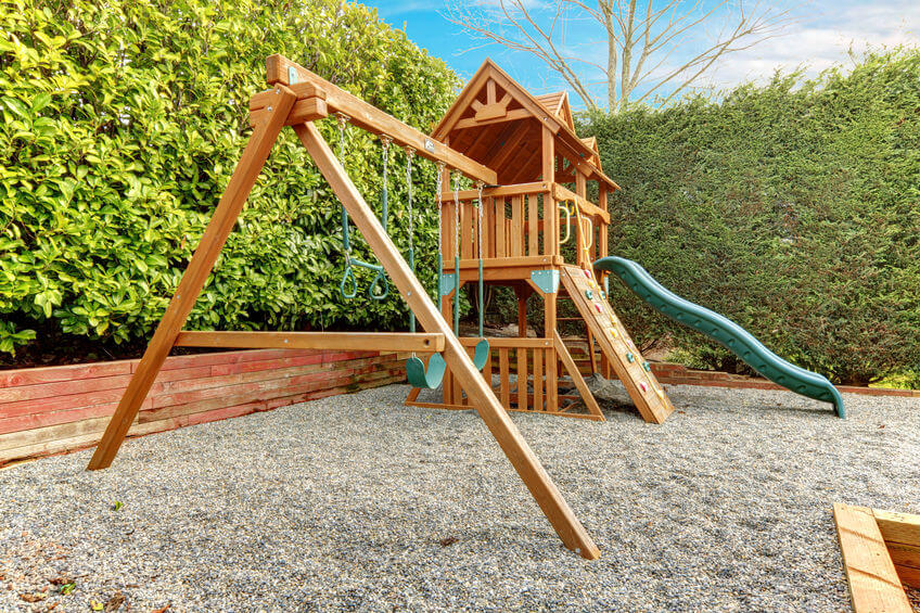 How much space do you need around a playset?