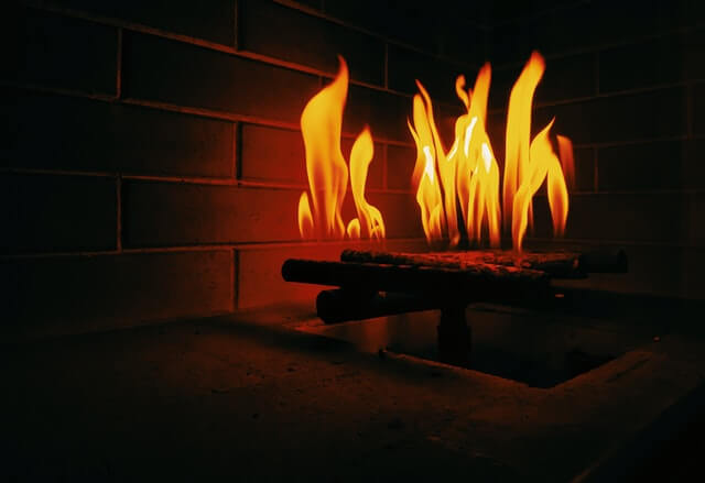 What are fake fireplace logs made out of?