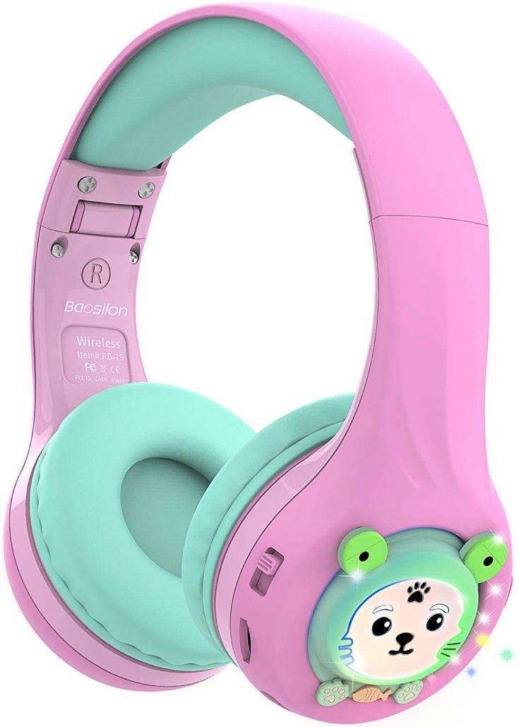 Cute kids' headphones with microphone.