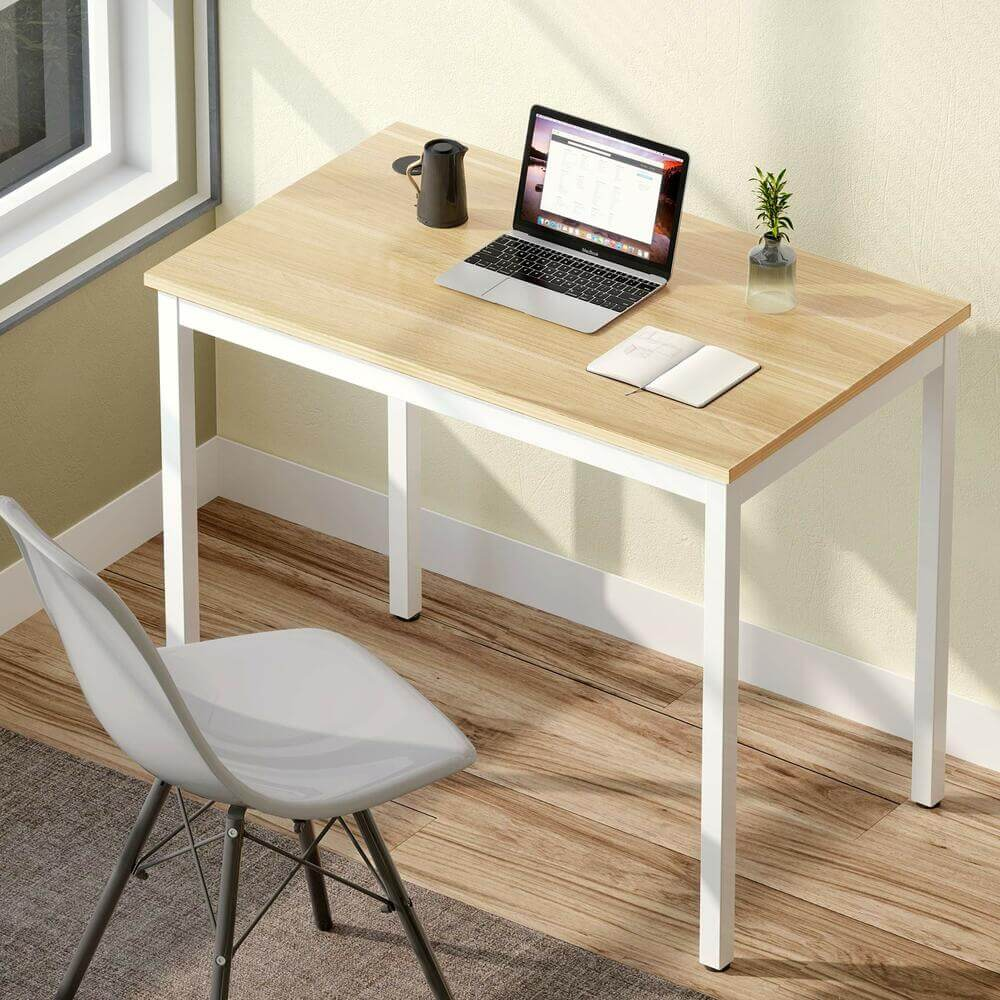 Small ergonomic computer desk for home office by Eureka.