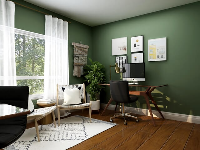 How can you make your home office look nice?