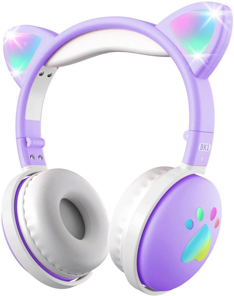 Cat ear headphones with microphone for kids by Aresrora.