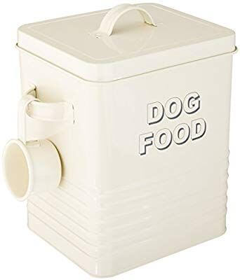 Small dog food storage tin by Leonardo Collection.