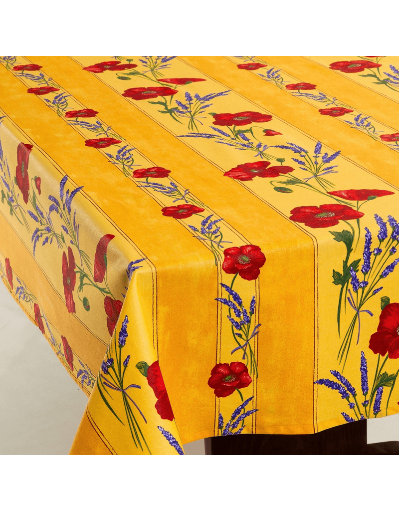 French-style spring tablecloth with stain-resistant coating by Amelie Michel.