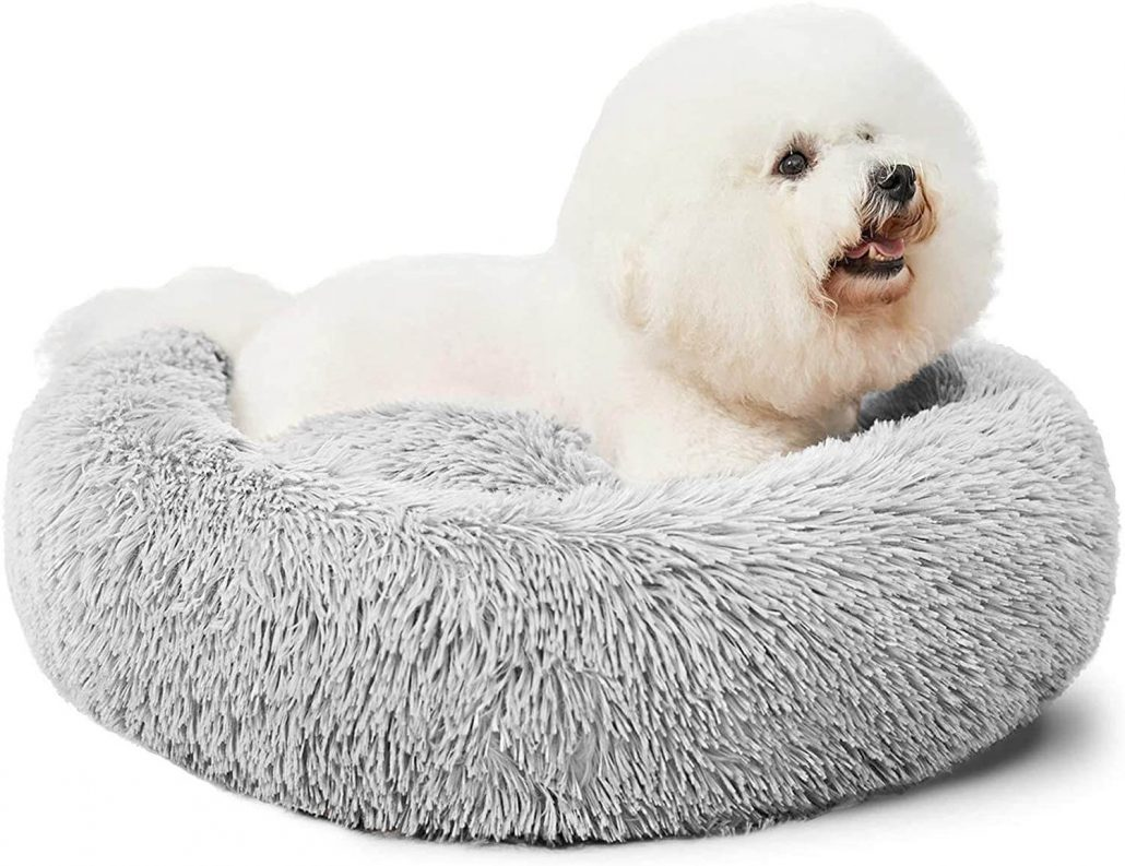 Large calming anti-anxiety dog bed.