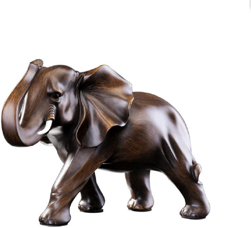 Feng Shui rosewood colored elephant statue for modern home office decor.
