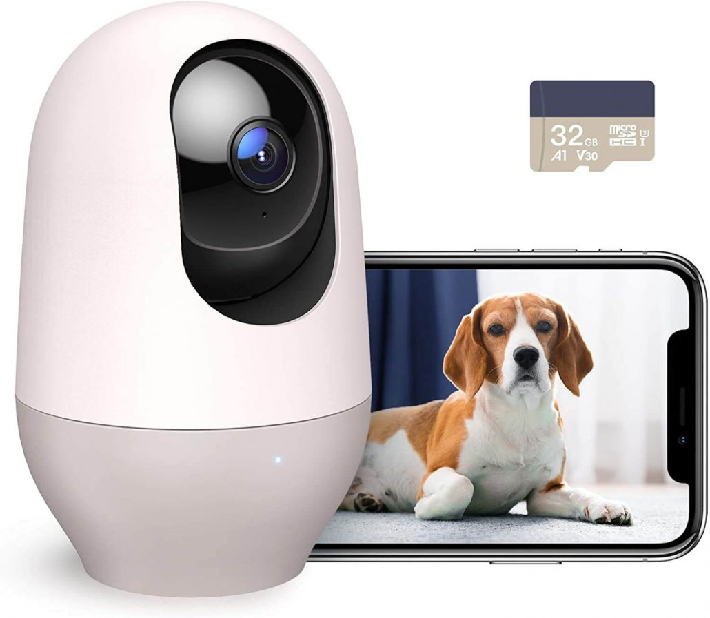 Rotating dog camera to watch your dogs at home while you're gone.