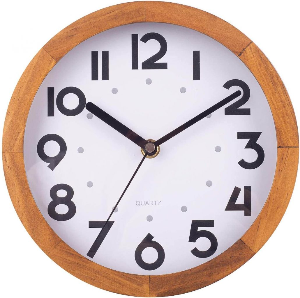 Simple office clock no noise with large numerals.