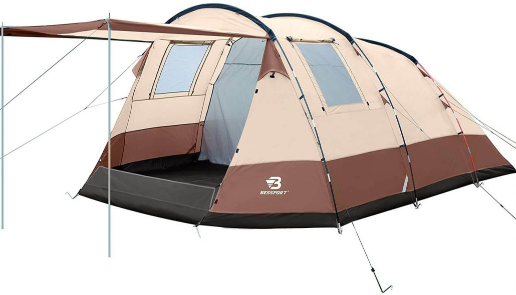 Bessport large family camping tent with  carrying bag.