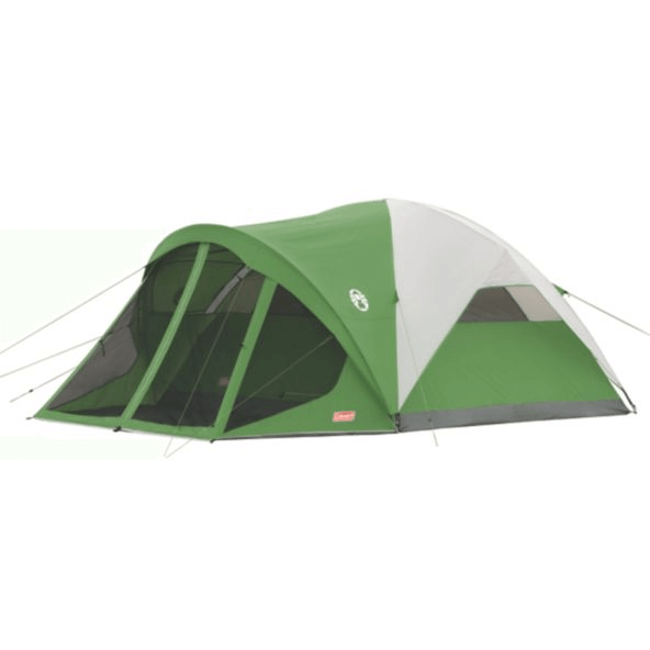 Coleman large family camping tent with screen room.