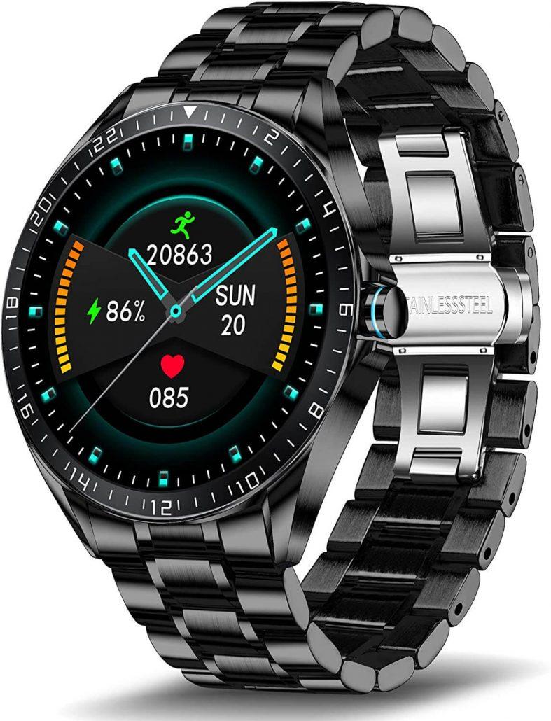 LIGE smartwatch for men, waterproof.
