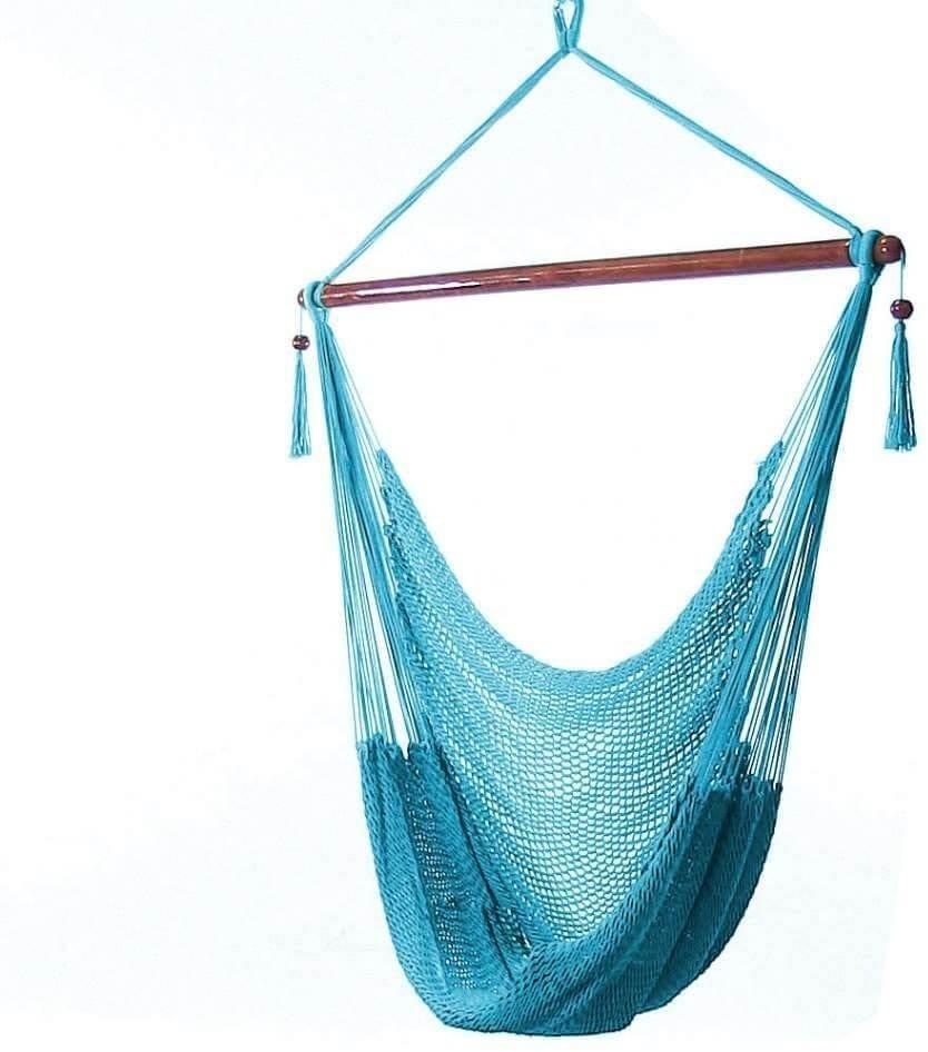 Hanging rope hammock chair swing by Sunnydaze.