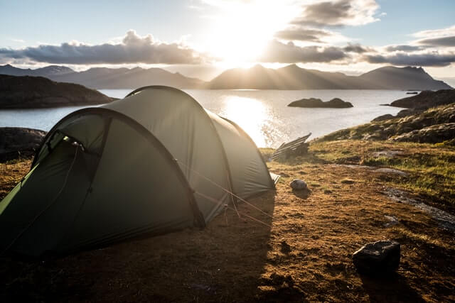 What is the most comfortable way to sleep in a tent?