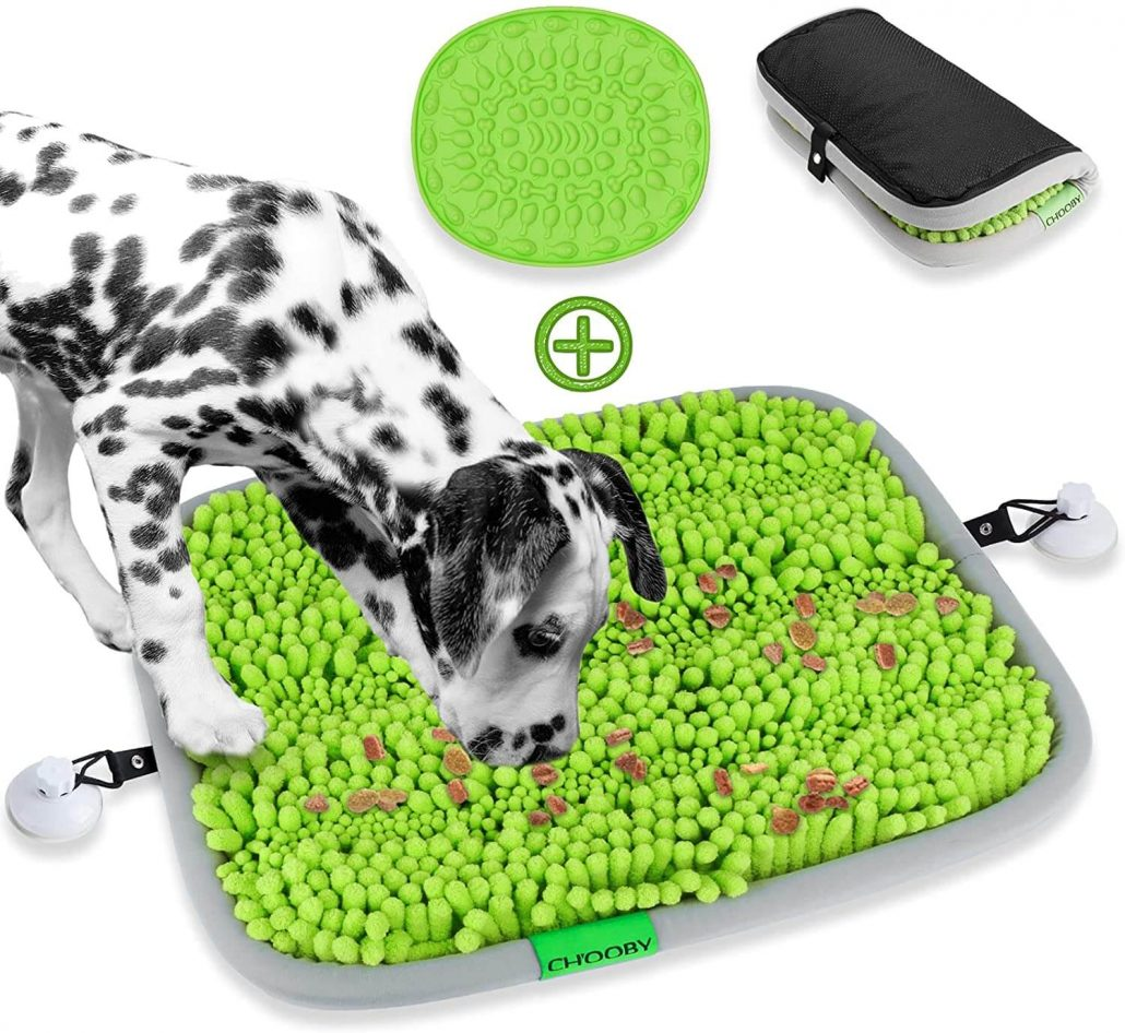 Snuffle mat for dogs by Chooby.