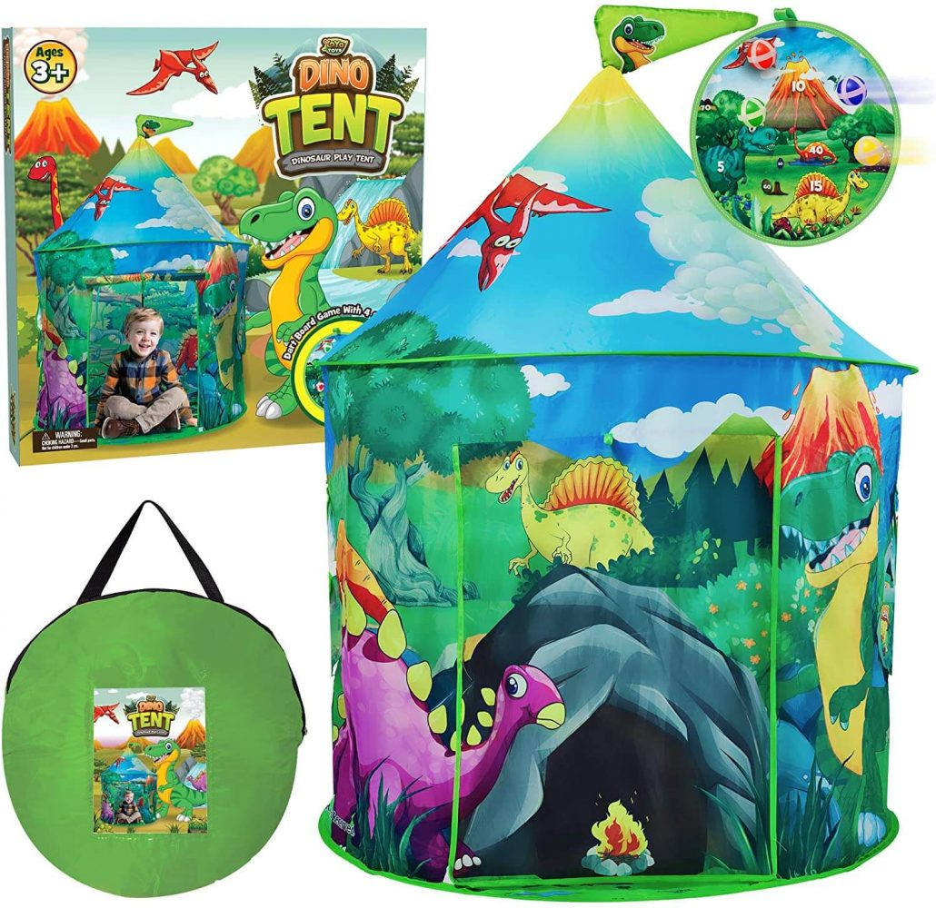 Dinosaur playhouse tent for toddlers.
