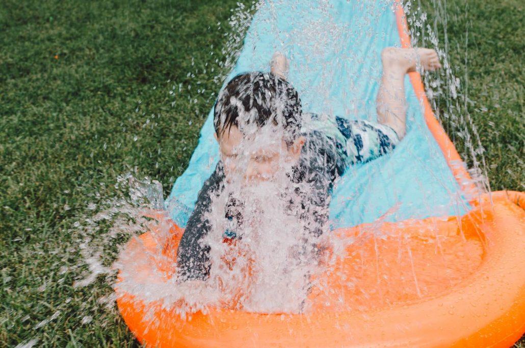 Do water slides ruin grass?
