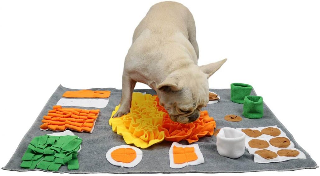 Machine washable dog snuffle mat.