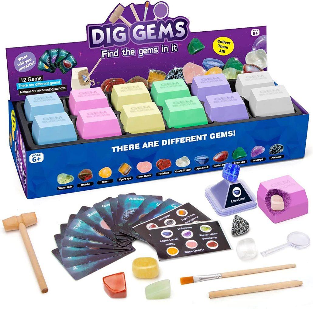 Digging for gems rock science kit for kids.