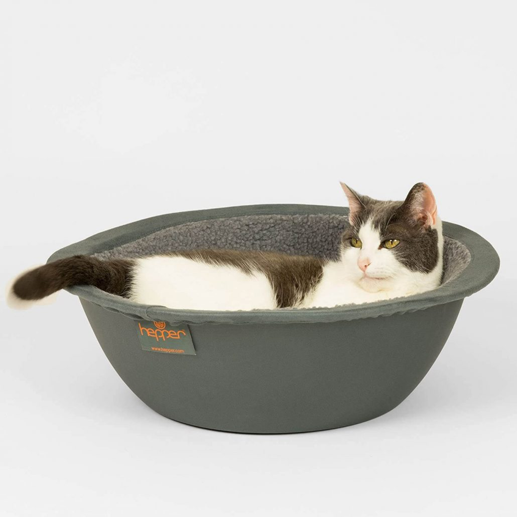 Modern basket-style cat bed by Hepper.