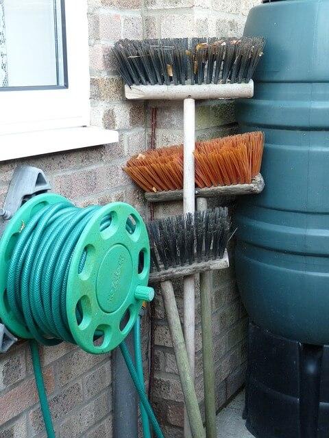 How should you install a hose reel?