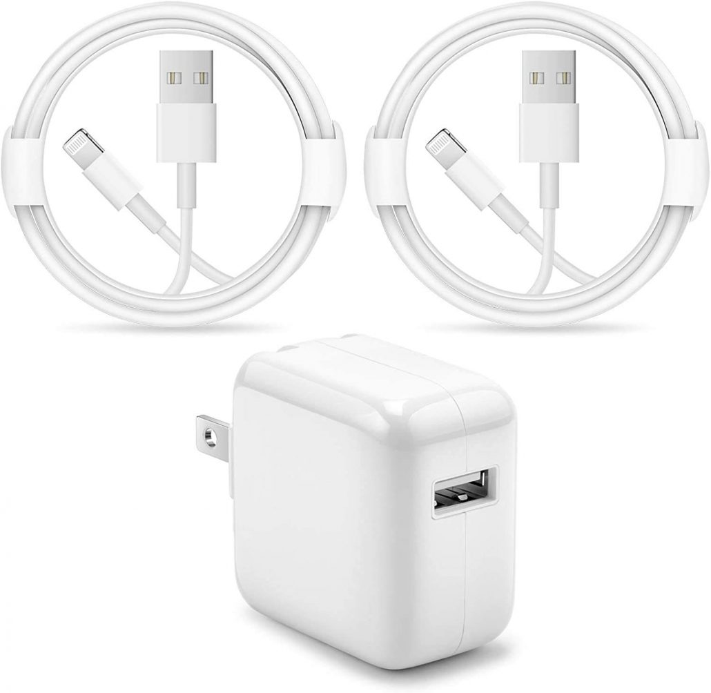 Portable travel wall charger with 12W USB.
