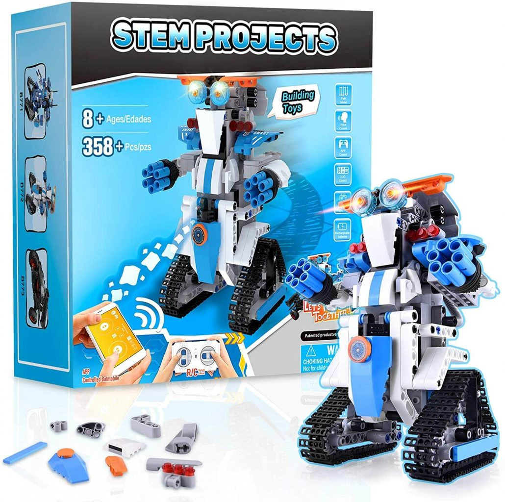 STEM robot project for kids 8-12 years old.